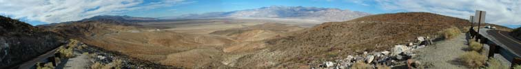 Panamint Valley overlook panorama