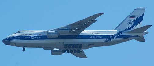 Volga-Dnepr Antonov An-124 Ruslan at Vandenberg Air Force Base