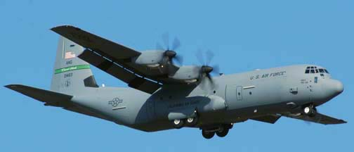 Channel Islands Air National Guard Lockheed C-130J-30 Hercules, 02-1463 of the 115th Airlift Squadron of the 146th Airlift Wing