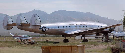 Lockheed C-121A Constellation 48-0610 Columbine II,  Marana Regional Airport, September 26, 2005