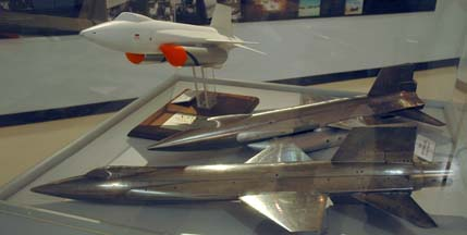 Models of the X-15 and X-15A-2