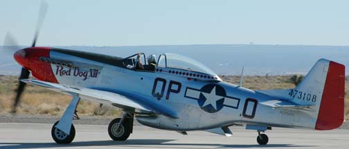 General Chuck Yeager in North American P-51D Mustang, NL334FS <em>Red Dog XII</em>