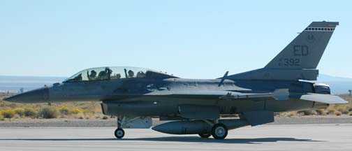 Colonel Joe Engle in General Dynamics F-16D Block 40A Fighting Falcon, 87-0392, 412th Test Wing
