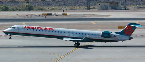America West Express Canadair CRJ-900ER N909FJ, Phoenix Sky Harbor, April 11, 2006
