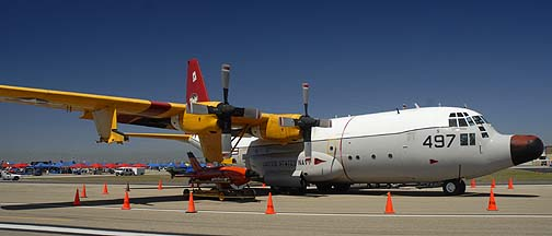 Navy Lockheed DC-130A Hercules 570497 of VX-30 Bloodhounds