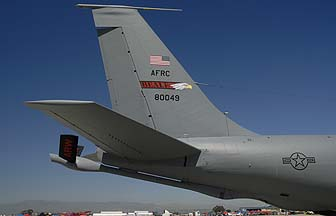Boeing KC-135R Stratotanker 58-0049 of the 940th Air Refueling Wing