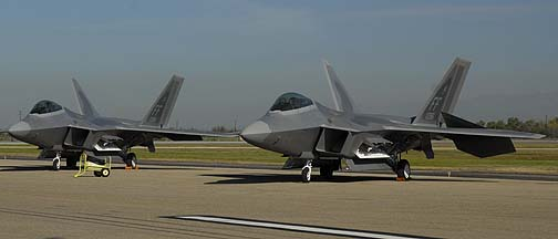 F-22As 05-4084 and 05-4086 of the 1st Fighter Wing