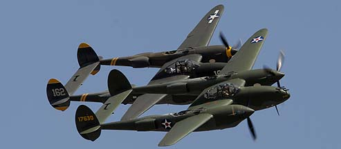 Lightning Strikes! Formation of Three P-38s, USAF Heritage Flight, and Vietnam Air War