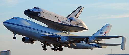 Space Shuttle Atlantis departs Edwards Air Force Base, July 1, 2007