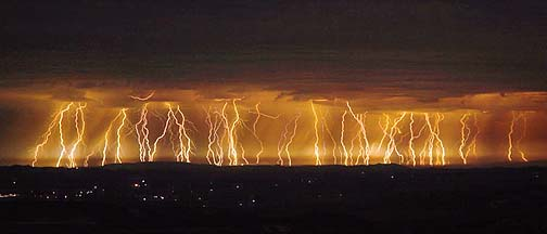 Lightning in the Santa Ynez Valley, August 30, 2007