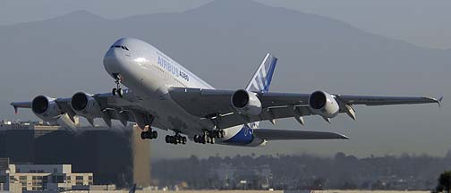 Airbus A380 at Los Angeles International, November 29, 2007
