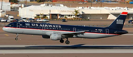 US Airways Airbus A321-211 N188US, Phoenix, December 27, 2007