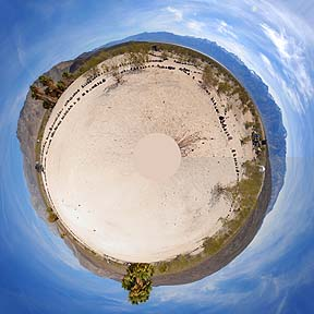 Saline Valley little planet