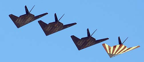 Last flight of Stealth Fighters from Holloman AFB, April 21, 2008