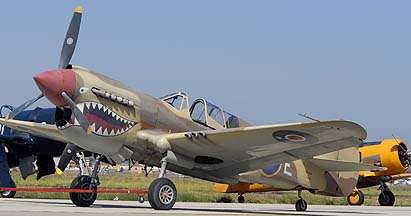 Curtiss P-40N Warhawk NL85104, Camarillo, August 17, 2008