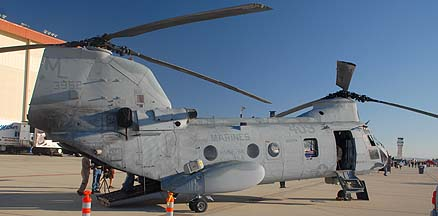 US Marine Corps Boeing-Vertol CH-46E Sea Knight BuNo 153962 of HMM-764 Moonlight