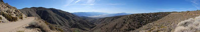 Panoramic view of Panamint Valley