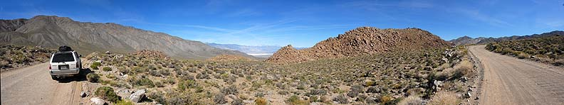 Panoramic view from the Saline Valley overlook