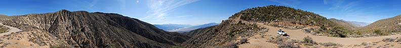360-degree panorama of the South Pass into the Saline Valley