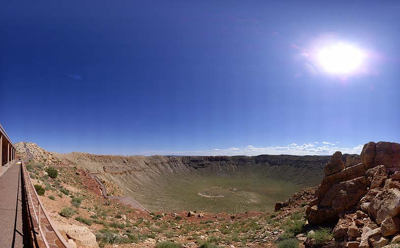 Meteor Crater Visitor Center View, August 26, 2010