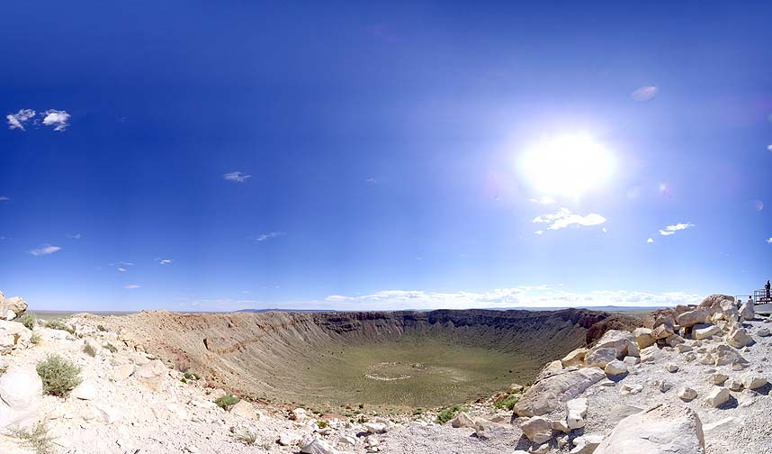 Meteor Crater Rim View, August 26, 2010