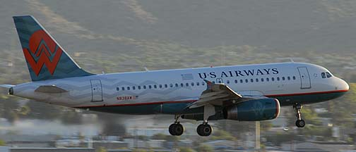 US Airways A319-132 N838AW America West heritage, Sky Harbor International Airport, October 26, 2010