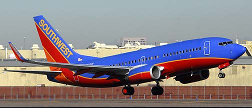 Southwest Boeing 737-3H4 N780SW, November 10, 2010