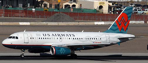 US Airways Airbus A319-132 N838AW, November 10, 2010