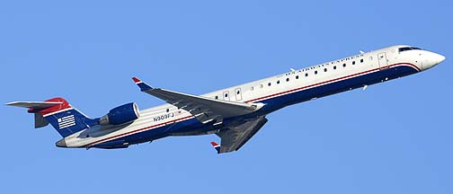 US Airways Express Bombardier CL600-2D24 N909FJ , December 23, 2010