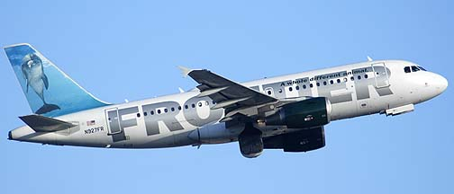 Frontier Airbus A319-111 N927FR , December 23, 2010