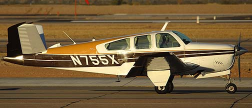 Beech V35 Bonanza N755X, January 15, 2011