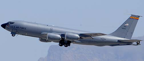 Boeing KC-135R Stratotanker 63-8023 of the 161st Air Refueling Wing, Mesa Gateway Airport, March 11, 2011