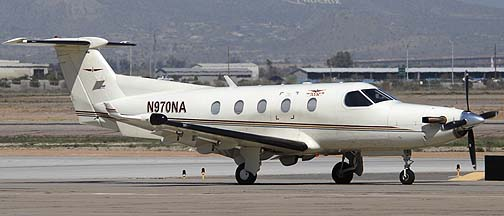 Native Air Pilatus PC-12-45 N970NA, Phoenix-Mesa Gateway Airport, March 11, 2011