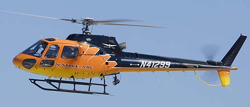 Native Air Eurocopter AS 350 B2 N41299, Phoenix-Mesa Gateway Airport, March 11, 2011