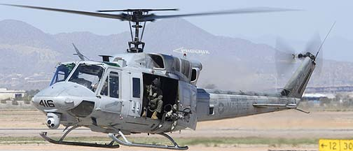 Bell UH-1N Huey BuNo 158559 of Marine Light Attack Training Squadron 303 Atlas, Mesa Gateway Airport, March 11, 2011