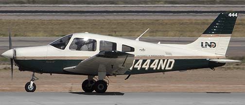 University of North Dakota Piper PA-28-161 N444ND, Phoenix-Mesa Gateway Airport, March 11, 2011