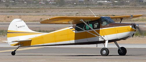 Cessna 170 N3813V, Phoenix-Mesa Gateway Airport, March 11, 2011