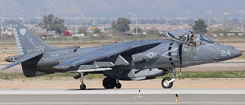 McDonnell-Douglas AV-8B Harrier BuNo 163883 #24 of VMA311 Tomcas, Mesa Gateway Airport, March 11, 2011