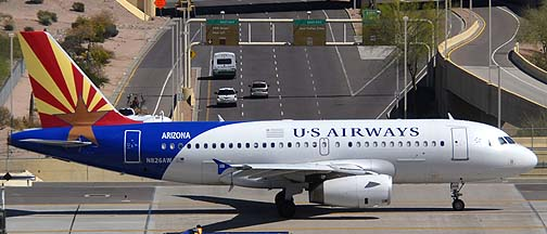US Airways Airbus A319-132 N826AW Arizona, March 16, 2011