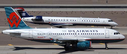 US Airways Airbus A319-132 N838AW, March 16, 2011