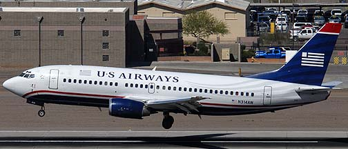 US Airways Boeing 737-3S3 N314AW, March 16, 2011