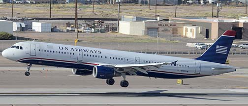 US Airways Airbus A321-211 N169UW, Phoenix Sky Harbor, April 25, 2011