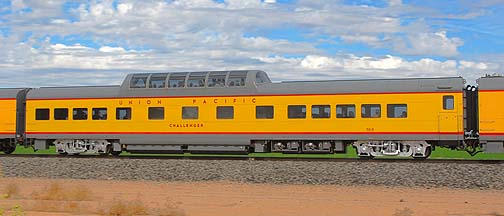 Union Pacific Dome Coach UPP7015 Challenger, November 12, 2011