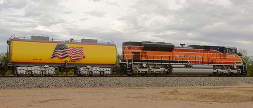 Southern Pacific 1996 SD70ACe Diesel and Water Tender UPP 809 Jim Adams, November 12, 2011