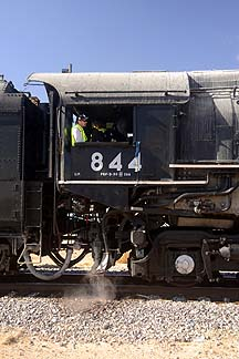 Union Pacific Steam Locomotive 844's Cab, November 15, 2011