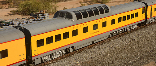 Union Pacific Dome Coach UPP 7015 Challenger, November 15, 2011
