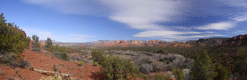 Eagle's Nest overlook panorama, Red Rock State Park, February 9, 2012