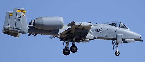 Fairchild-Republic OA-10A Warthog 80-0142 of the 357th Fighter Squadron, Davis-Monthan Air Force Base, March 4, 2012