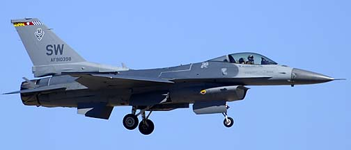 General Dynamics F-16C Viper 91-0398 from Shaw Air Force Base, Davis-Monthan Air Force Base, March 4, 2012