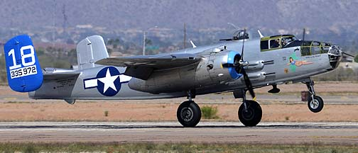North American B-25J Mitchell N125AZ Maid in the Shade, Mesa Gateway Airport, March 9, 2012